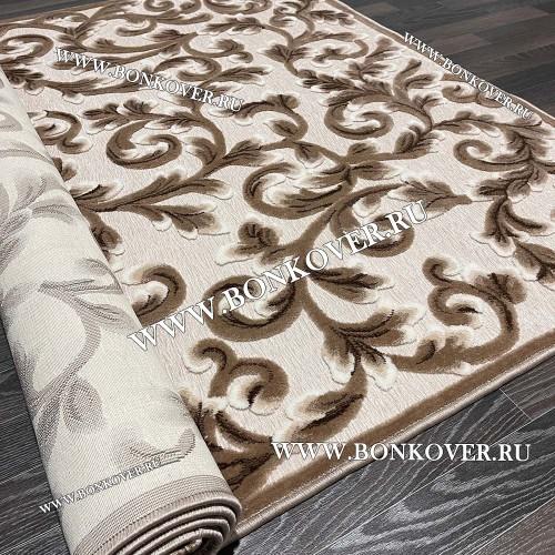 Ковер Рельефный Рисунок 29 Бежево-коричневый Прямоугольный