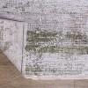 Высокоплотный Премиальный Ковер из вискозы Дизайн 06 Зеленый с Бежевым