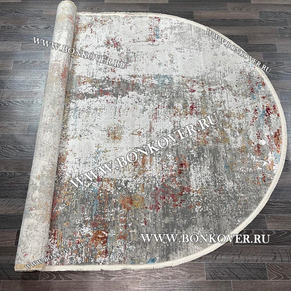 Турецкий ковер из эвкалиптового шелка «SIRIUS» 1940-COK-GRI Овальный